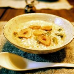 アスパラの玄米リゾット