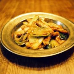 白菜と豚肉の甘酢炒め