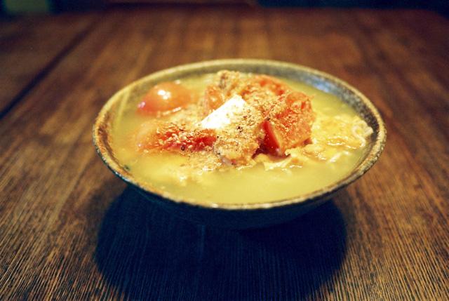 塩ラーメン(トマトと玉子のふわふわスクランブル&バター)