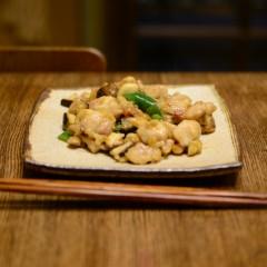 鶏の辛みピ−ナッツ炒め