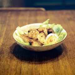 豚の角煮とれんこんのグリルサラダ