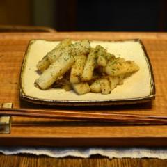山芋のアンチョビ&ガーリック炒め