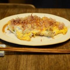 ひき肉とチーズのオムレツ