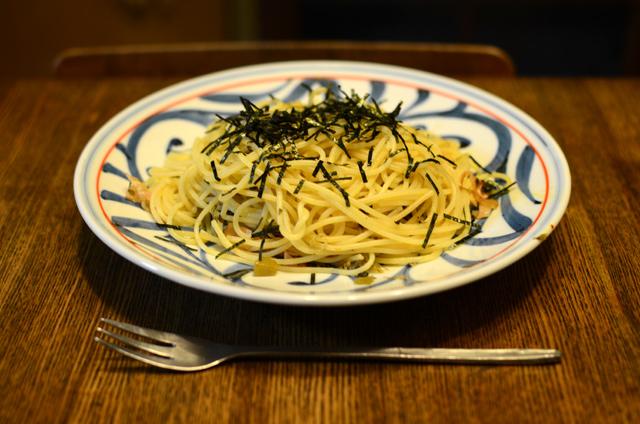 高菜とベーコンのスパゲッティ
