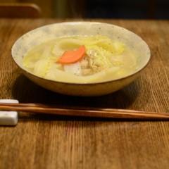 干し白菜のスープ