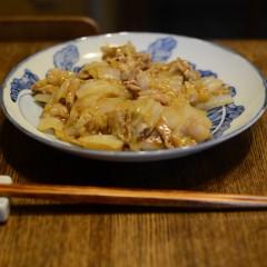 白菜と豚バラ肉のしょうが炒め